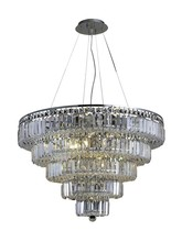 Elegant 2036D30C/SA - 2036 Maxime Collection Chandelier D:30in H:22in Lt:17 Chrome Finish (Spectra� Swarovski� Crystals)