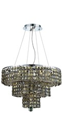 Elegant 2037D20C-GT/RC - 2037 Maxime Collection Chandelier D:20in H:16in Lt:9 Chrome Finish (Royal Cut Crystals)
