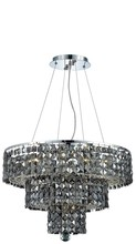 Elegant 2037D20C-SS/SS - 2037 Maxime Collection Chandelier D:20in H:16in Lt:9 Chrome Finish (Swarovski� Elements Crystals)