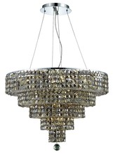 Elegant 2037D26C-GT/SS - 2037 Maxime Collection Chandelier D:26in H:20in Lt:14 Chrome Finish (Swarovski� Elements Crystals)