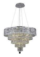 Elegant 2037D26C/SA - 2037 Maxime Collection Chandelier D:26in H:20in Lt:14 Chrome Finish (Spectra� Swarovski� Crystals)