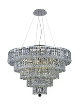 Elegant 2037D30C/RC - 2037 Maxime Collection Chandelier D:30in H:22in Lt:17 Chrome Finish (Royal Cut Crystals)