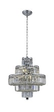Elegant 2038D20C/EC - 2038 Maxime Collection Chandelier D:20in H:21in Lt:13 Chrome Finish (Elegant Cut Crystals)