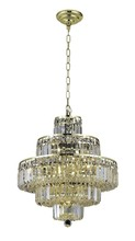 Elegant 2038D20G/SA - 2038 Maxime Collection Chandelier D:20in H:21in Lt:13 Gold Finish (Spectra� Swarovski� Crystals)