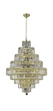 Elegant 2038D30G/SS - 2038 Maxime Collection Chandelier D:30in H:41in Lt:20 Gold Finish (Swarovski� Elements Crystals)