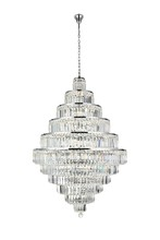 Elegant 2038D32C/SS - 2038 Maxime Collection Chandelier D:32in H:48in Lt:30 Chrome Finish (Swarovski� Elements Crystals)