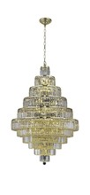 Elegant 2038D32G/EC - 2038 Maxime Collection Chandelier D:32in H:48in Lt:30 Gold Finish (Elegant Cut Crystals)