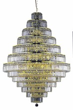 Elegant 2038G42G/RC - 2038 Maxime Collection Chandelier D:42in H:60in Lt:38 Gold Finish (Royal Cut Crystals)