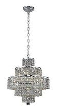 Elegant 2039D20C/SS - 2039 Maxime Collection Chandelier D:20in H:21in Lt:13 Chrome Finish (Swarovski� Elements Crystals)