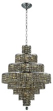 Elegant 2039D26C-GT/RC - 2039 Maxime Collection Chandelier D:26in H:35in Lt:18 Chrome Finish (Royal Cut Crystals)