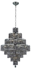 Elegant 2039D26C-SS/RC - 2039 Maxime Collection Chandelier D:26in H:35in Lt:18 Chrome Finish (Royal Cut Crystals)