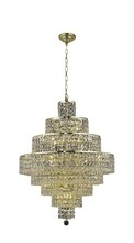 Elegant 2039D26G/SS - 2039 Maxime Collection Chandelier D:26in H:35in Lt:18 Gold Finish (Swarovski� Elements Crystals)