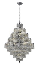 Elegant 2039D30C/SS - 2039 Maxime Collection Chandelier D:30in H:41in Lt:20 Chrome Finish (Swarovski� Elements Crystals)
