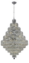 Elegant 2039D32C/SA - 2039 Maxime Collection Chandelier D:32in H:48in Lt:30 Chrome Finish (Spectra� Swarovski� Crystals)