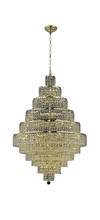 Elegant 2039D32G/RC - 2039 Maxime Collection Chandelier D:32in H:48in Lt:30 Gold Finish (Royal Cut Crystals)