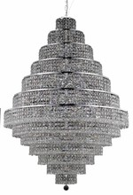 Elegant 2039G42C/RC - 2039 Maxime Collection Chandelier D:42in H:60in Lt:38 Chrome Finish (Royal Cut Crystals)