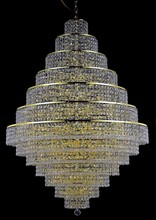 Elegant 2039G42G/EC - 2039 Maxime Collection Chandelier D:42in H:60in Lt:38 Gold Finish (Elegant Cut Crystals)
