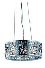 Elegant 2051D16C/RC - 2051 Soho Collection Hanging Fixture  W16in H7.7in Lt:4 Chrome Finish  (Royal Cut Crystals)