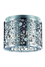 Elegant 2051F12C/RC - 2051 Soho Collection Flush Mount D:12in H:10in Lt:2 Chrome Finish (Royal Cut Crystals)