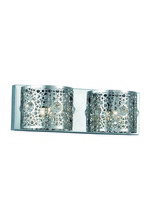 Elegant 2051W16C/RC - 2051 Soho Collection Wall Sconce D:16in H:5in E:4in Lt:2 Chrome Finish (Royal Cut Crystals)