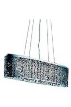 Elegant 2053D46C/RC - 2053 Soho Colloection Pendant L:46 in W:9.5in H:11in Lt:8 Chrome Finish (Royal Cut Crystals)