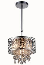 Elegant 2059D12C/RC - 2059 Sterling Collection Pendant D:12in H:10in Lt:3 Chrome Finish (Royal Cut Crystals)
