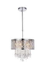 Elegant 2059D18C/RC - 2059 Sterling Collection Pendant D:18in H:13in Lt:5 Chrome Finish (Royal Cut Crystals)