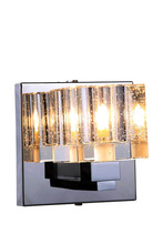 Elegant 2070W1C/RC - 2070 Reflection Collection Wall Sconce D:5in H:5in E:5in Lt:1 Chrome Finish (Royal Cut Crystals)