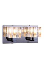 Elegant 2070W2C/RC - 2070 Reflection Collection Wall Sconce D:11in H:5in E:5in Lt:2 Chrome Finish (Royal Cut Crystals)