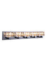Elegant 2070W5C/RC - 2070 Reflection Collection Wall Sconce D:31.5in H:5in E:5in Lt:5 Chrome Finish (Royal Cut Crystals)