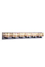 Elegant 2070W6C/RC - 2070 Reflection Collection Wall Sconce D:38in H:5in E:5in Lt:6 Chrome Finish (Royal Cut Crystals)