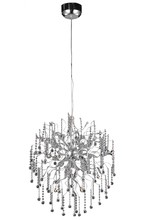 Elegant 2075D28C/RC - 2075 Astro Collection Chandelier D:28in H:30.5in Lt:15 Chrome Finish (Royal Cut Crystals)