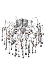 Elegant 2075F24C/RC - 2075 Astro Collection Flush Mount D:24in H:20.5in Lt:12 Chrome Finish (Royal Cut Crystals)