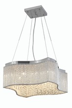 Elegant 2091D20C/RC - 2091 Influx Colloection Pendant L:20 in W:20in H:8in Lt:16 Chrome Finish (Royal Cut Crystals)