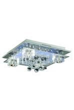 Elegant 2095F18C/EC - 2095 Karma Collection Flush Mount L:18in W:18in H:8in Lt:5 Chrome Finish (Elegant Cut Crystals)