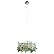 Elegant 2100D14C/RC - 2100 Picasso Colloection Pendant L:14 in W:14in H:9in Lt:4 Chrome Finish (Royal Cut Crystals)