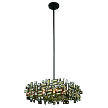 Elegant 2100D21DB/RC - 2100 Picasso Colloection Pendant L:21 in W:21in H:9in Lt:6 Dark Bronze Finish (Royal Cut Crystals)