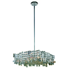 Elegant 2100D24C/RC - 2100 Picasso Colloection Pendant L:24 in W:24in H:9in Lt:6 Chrome Finish (Royal Cut Crystals)