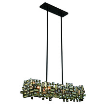 Elegant 2100D35DB/RC - 2100 Picasso Colloection Pendant L:35 in W:11in H:9in Lt:6 Dark Bronze Finish (Royal Cut Crystals)
