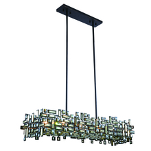 Elegant 2100G44DB/RC - 2100 Picasso Colloection Pendant L:44 in W:14in H:9in Lt:8 Dark Bronze Finish (Royal Cut Crystals)