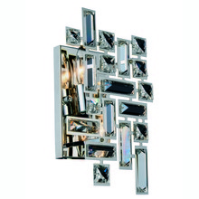 Elegant 2100W12C/RC - 2100 Picasso Collection Wall Sconce D:8in H:12in E:3.5in Lt:2 Chrome Finish (Royal Cut Crystals)