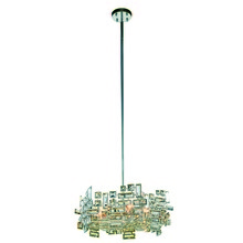 Elegant 2101D20C/RC - 2101 Picasso Collection Pendant D:20in H:8in Lt:6 Chrome Finish (Royal Cut Crystals)