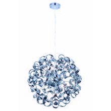 Elegant 2104D24SS - 2104 Ritz Collection Pendant D:24in H:24in Lt:9 Chrome Finish