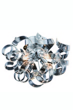 Elegant 2104F14C - 2104 Ritz Collection Flush mount, Wall Sconce D:14in H:11in Lt:4 Chrome Finish