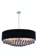 Elegant 2105D35C/RC - 2105 Metro Collection Pendant D:35in H:14.6in Lt:9 Chrome Finish (Royal Cut Crystals)