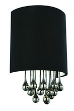 Elegant 2105W10C/RC - 2105 Metro Collection Wall Sconce D:10in H:16in E:6in Lt:1 Chrome Finish (Royal Cut Crystals)