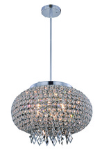 "Elegant 2106DF18C/RC - Brida Collection Pendant/Flush Mount D:17.5"" H:12.6"" Lt:6 Chrome Finish Royal Cut Clear"