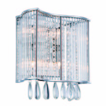 Elegant 2107W11C/RC - 2107 Aspen Collection Wall Sconce D:10.5in H:11.2in E:5.2in Lt:4 Chrome Finish (Royal Cut Crystals)
