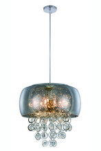 Elegant 2112D19C/RC - 2112 Jordan Collection Pendant D:19in H:17in Lt:10 Chrome Finish (Royal Cut Crystals)