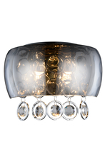 Elegant 2112W11C/RC - 2112 Jordan Collection Wall Sconce D:11in H:7.5in E:5.5in Lt:2 Chrome Finish (Royal Cut Crystals)